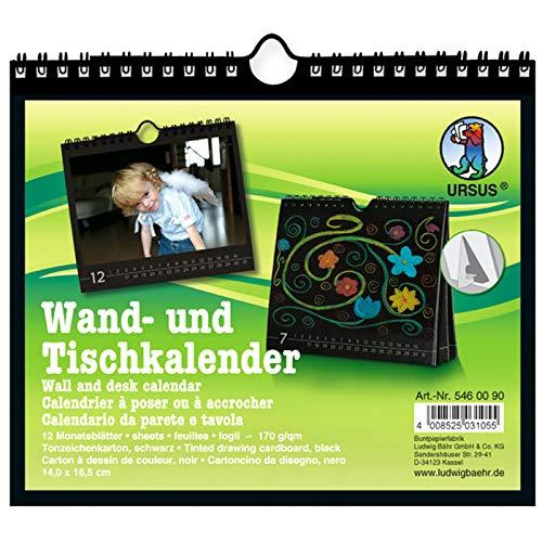 CREATIV DISCOUNT® NEU Wand- und Tischkalender schwarz, 16,5x14cm