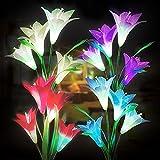 ITICdecor Solar Garden Flower Lights,Outdoor...
