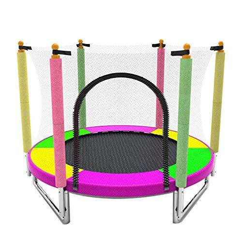 CX Trampoline 59 inch buiten en binnen met veiligheidsnet en beschermhoes voor springmat | verjaardagscadeau voor jongens en meisjes Load 250 kg draagvermogen