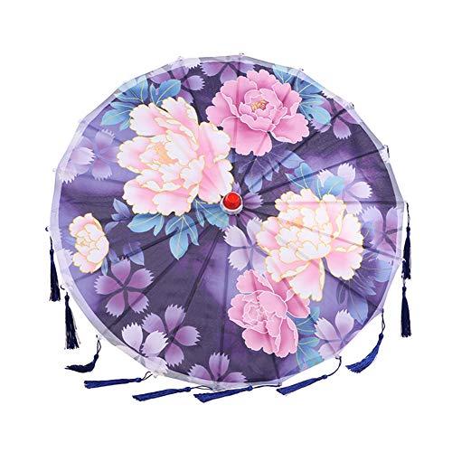Yalatan Seide Frauen Regenschirm, japanische Kirschblüten Seide alten Tanz Regenschirm, chinesischen Stil Öl Papier dekorativen Regenschirm für Hochzeitsfeiern