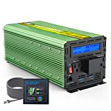 EDECOA 3000 Watt Power Inverter DC 12V to AC 110V 120V for Car Truck RV (3000W 12V with USB)