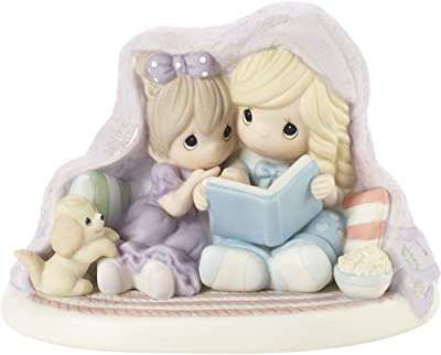 Precious Moments Kid's Reading Under Blanket Figurine, Multi