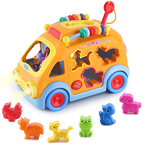 Product Image of the iPlay, iLearn Toddler Music Bus Toys, Baby Musical Busy Learning Toy W/ Animal...
