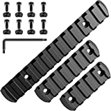 Caysen Gun Rail Mount Picatinny Weaver Rail Sections Pack of 3 (5/7/13 Slot) Adapter with 8 Nuts, 8 Screws, 1 Hex Wrench