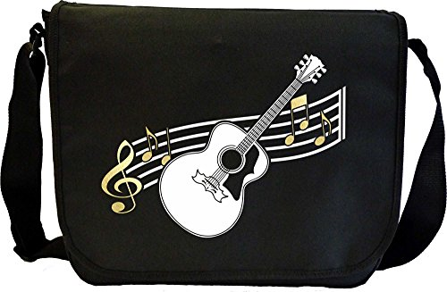 Musicalitee Acoustic Guitar Curved Stave - Sheet Music Document Bag Musik Notentasche
