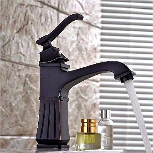 HQLCX Robinets de lavabo Dark Bronze Robinet Tirage Classique Vieux Robinet Nickel Bross¨¦ Basin Robinet