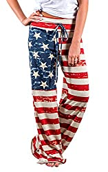 Women's patriotic Flag Drawstring protester Pants