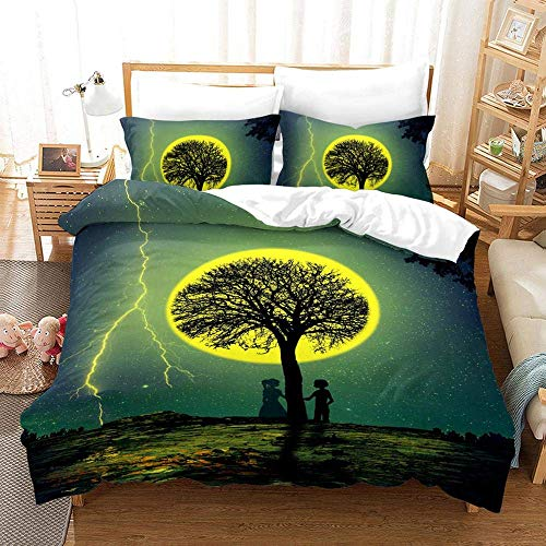 227 Duvet Cover Sets 3D Starry Sky Printing Bedding Set 100% Polyester 1 Duvet Cover And 2 Pillowcases 3pcs D-US Twin172x218cm