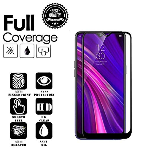 NishTech NEW Technology Full Glue Edge to Edge Tempered Glass Screen Protector with Installation Kit for Realme 3 Pro (2019)