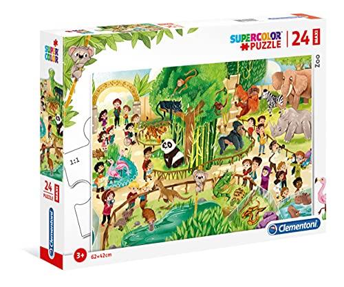 Clementoni Maxi Puzzle 24 Piezas Zoo, Multicolor (28505.1) (Juguete)