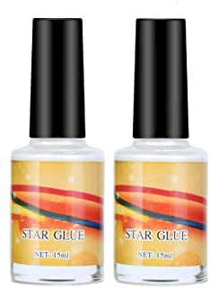 Ownest 2 paquetes Galaxy Star Nail Art Foil Glue para Foil Sticker Nail Transfer Tips Decoraciones Adhesivo Manicure Art DIY-15ml