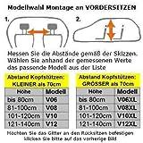 OVITAN Hundegitter XL fürs Auto 6 Streben universal zur Befestigung an den Kopfstützen der Rücksitzbank – für alle Automarken geeignet – Modell: H06XL - 5
