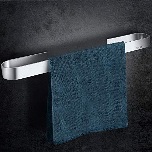 ZOYJITU Handtuchstange ohne Bohren 45cm Handtuchring Selbstklebend Handtuchring Raum Aluminium Mattes Finish