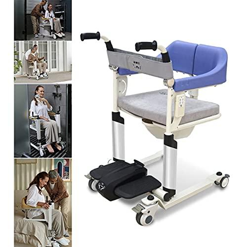 FANGX Sollevatore Disabili Elettrico Self-Service,Sedia Comoda WC Imbottita,Telecomando, Regolazione del Sollevamento A 9 Livelli, per Anziani Paralizzati, Disabili, Carico 308Ib