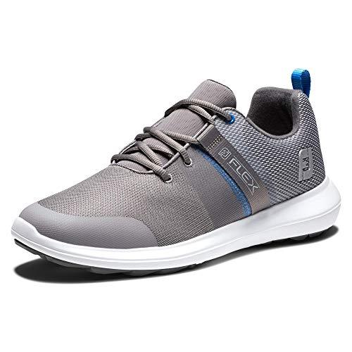FootJoy Flex, Zapatos de Golf Hombre, Gris/Azul, 44.5 EU