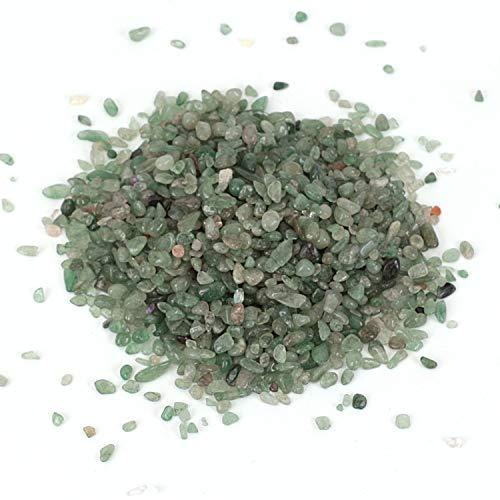 Shiny Stone Pierres décoratives en cristal pour aquarium, gravier de poisson, pierres décoratives pour la maison, le jardin, les plantes grasses - Décoration (fraise verte, 5-7 mm)