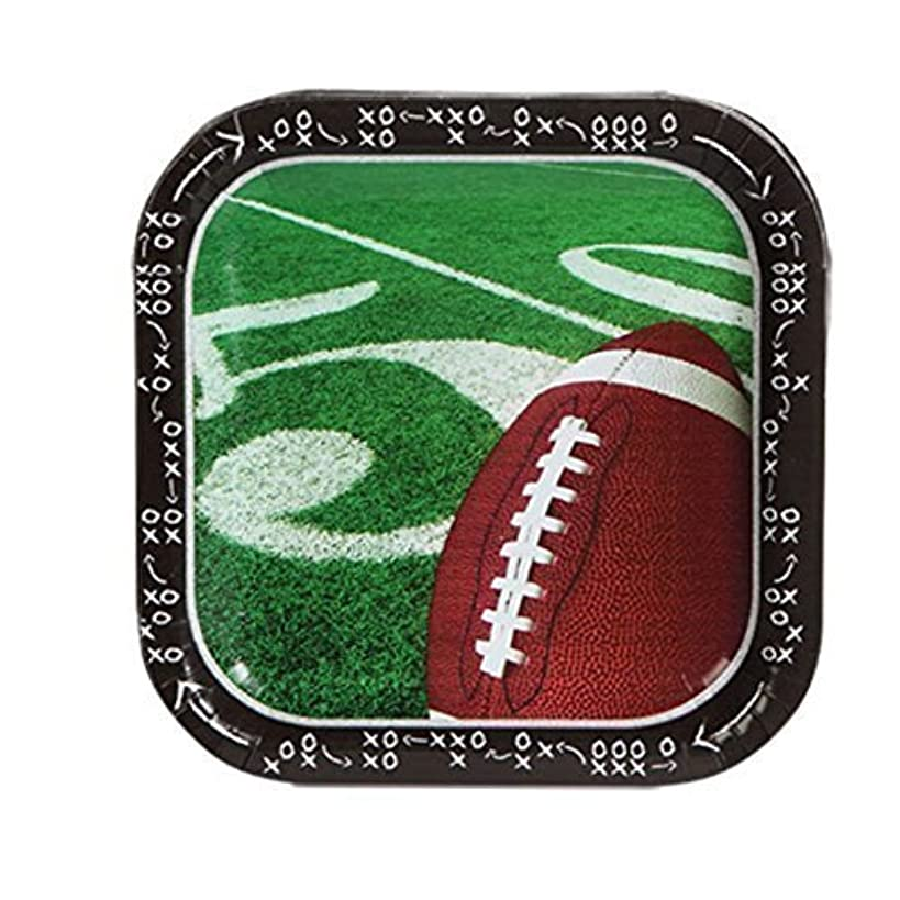Football Touchdown Party Paper Plates 14 count, 9 inch