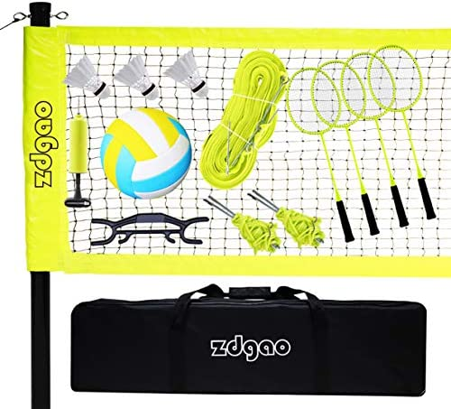 Professional Outdoor Volleyball Badminton Net System Complete Volleyball Badminton Combo Set product image