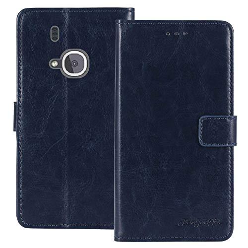 TienJueShi Blu Scuro Premium Retro Business Stand Portafoglio Caso in Pelle Case Copertina Custodia Protettiva Cover TPU Silicone per Nokia 3310 3G 2.4 inch 2017