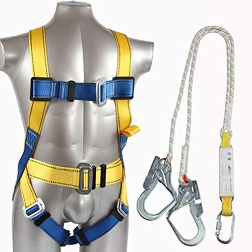 Absturzsicherung Baugerüst Fall Protection Set von - Sicherheit Dachdeckerset, Lanyard Webbing Harness, Komfort, Fallschutzausrüstung ZDWN