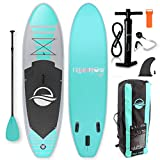 SereneLife Premium Inflatable Stand Up Paddle Board (6 Inches Thick)...