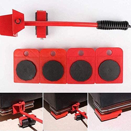 TXOZ-Q 5 Piezas de la Herramienta de Motor de los Muebles 360 ° (1 elevación Rod y 4 moviendo Muebles Rodillos) for Heavy Muebles y elevación Appliance