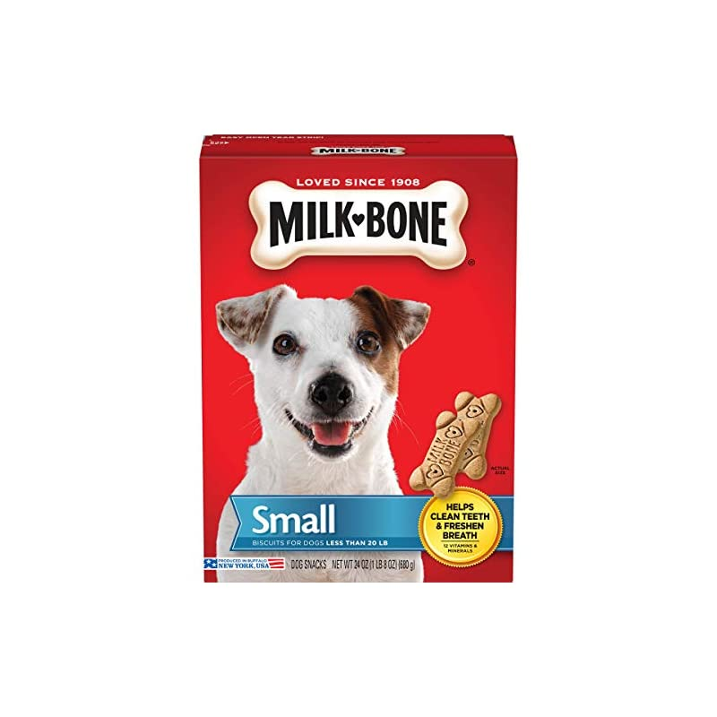 dog supplies online milk-bone original dog treats biscuits for small dogs, 24 ounces (pack of 12)