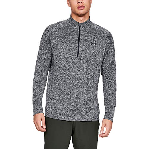 Under Armour UA Tech 2.0 1/2 Zip Parte Superior del Calentamiento, Hombre, Negro (Black/Black (002), L