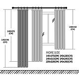 Topfinel Voile Weihnachten Vorhänge mit Kräuselband in Leinen-Optik Transparent für Wohnzimmer Schlafzimmer Fenster Einfarbige Gardinen Weiß 2er Set je140x245cm (BxH) - 3