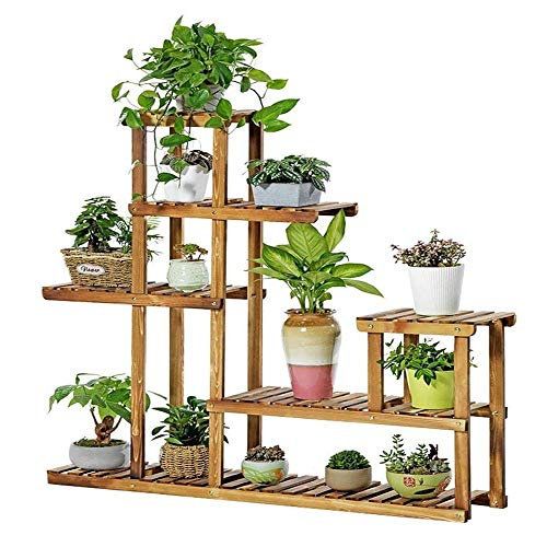Wooden Shelf Flower Stand, Nordic Simple Multi-level Ladder Stand, Flower Garden Stairs Plant Pot Display Stand For Outdoor And Indoor Decoration