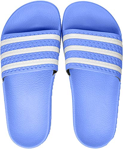 adidas Herren Adilette Aqua Schuhe, Mehrfarbig FTWR White/Real Blue Ee6181, 43  EU