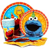 Sesame Street Elmo Value Pack Birthday Party for 8 guests ( Plates, Cups, Napkins)