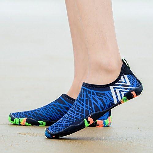 YINI Sneakers Men Women Barefoot Beach Water Shoes Lovers Outdoor Fishing Swimming Bicycle Quick-Drying Aqua Shoes Zapatos De Mujer (Color : Green, Shoe Size : 19)