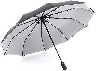 SHANGRUIYUAN-Umberllas Folding Umbrella Auto Open Close Large Rain 10 Ribs Windproof Umbrella Travel Umbrella for Outdoor (Color : Gray, Size : Free)