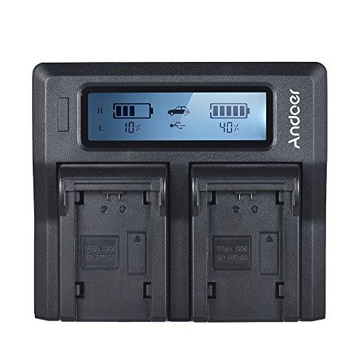 Docooler Carregador De Bateria Da Câmera Do Lcd Do Canal Duplo De Andoer Np-Fz100 Para Sony A7Iii A9 A7Riii A7Siii
