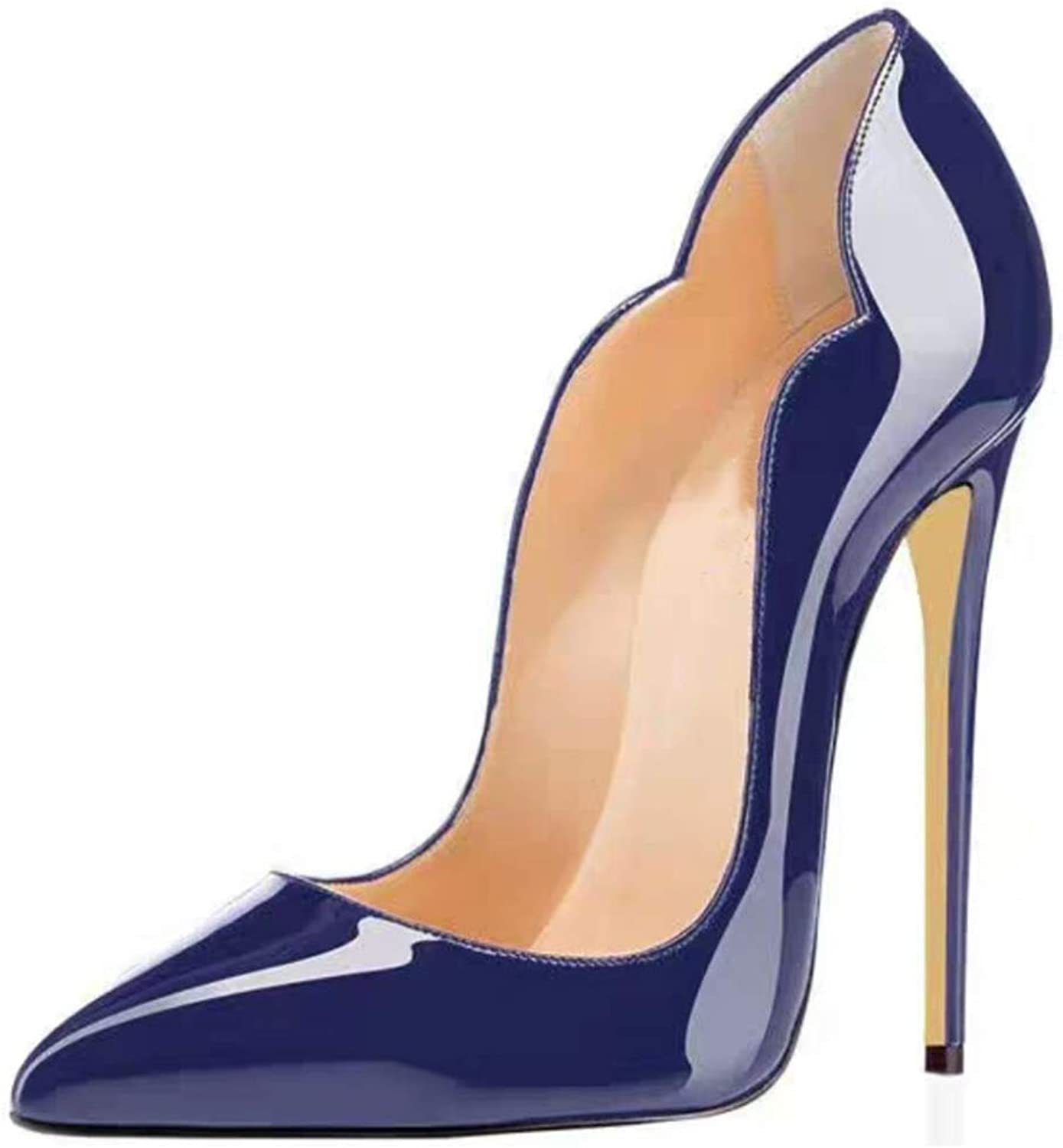 Spring Fall Women's Closed-Toe Pumps Work Court shoes Patent Leather Heel Woman Purps Sexy shoes women Tacon Black RED Women's HIGH Heels shoes