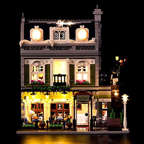 KCGNBQING Kit de iluminación LED para Restaurante Parisino - Compatible con Lego 10243 Bloques de construcción Modelo Montaje de Rompecabezas