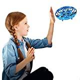 Amazingbuy Mini Drone for Kids, Flying Ball Toys Hand Controlled Quadcopter Flying Toys for Kids Interactive Infrared Induction RC Helicopter with 360°Rotating and Shinning LED Lights Gifts