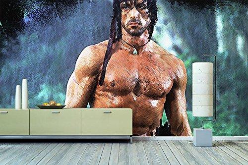 """WandbilderXXL® Vlies Fototapete """"Rambo"""" 360x240cm - hochwertige Tapete in 6 verschiedenen Größen für Wohnzimmer oder Büro - Foto Tapete - Qualität von Wandbilder XXL"""