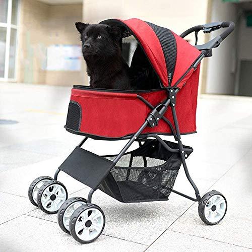 HFJKD Trolley-kar voor kinderen Kinderwagen, Opvouwbare kinderwagen met 4 wielen, Draaibare voorwiel Reiswandelwagen voor huisdieren, Waterdicht Opvouwbaar voor kat