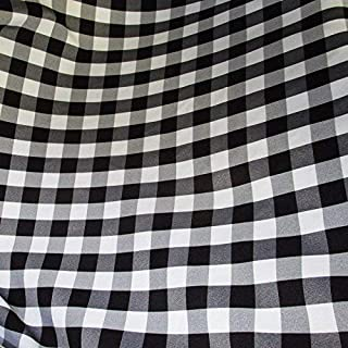 white gingham fabric