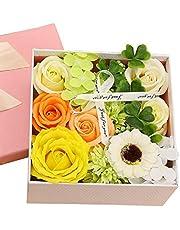 Kugusa ソープフラワー 石鹸花 枯れない花 フレグランス ボックスアレンジ メッセージカード付き