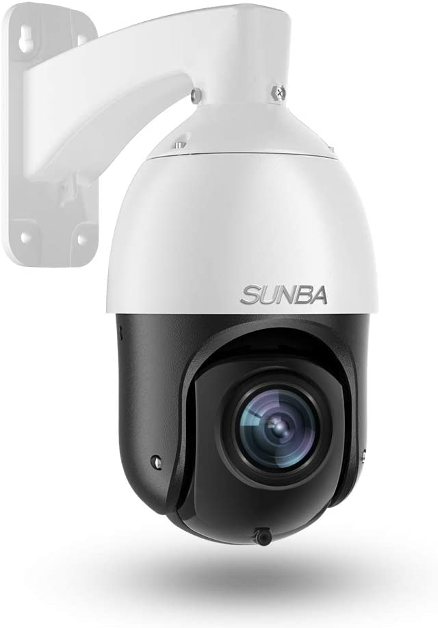 SUNBA 3MP IP PoE+ PTZ Camera Outdoor, 20x Optical Zoom@H.265, Motion & Human-Shape Detection, 24x7 Automatic Patrol, up to 328ft Night Vision (405-D20X ECO Edition)