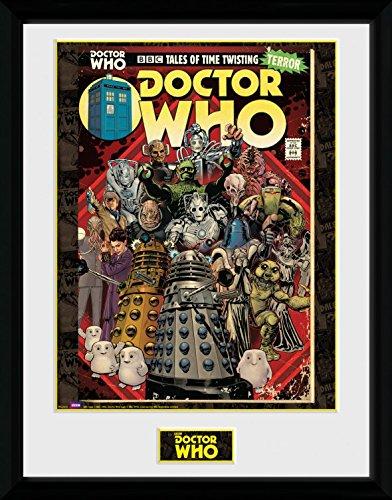 1art1 Doctor Who - Villains Comic Gerahmtes Bild Mit Edlem Passepartout   Wand-Bilder   Kunstdruck Poster Im Bilderrahmen 40 x 30 cm