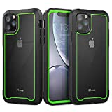 Funda iPhone 11 Pro 360 Grados Carcasa Ultrafina Antigolpes Case Anti-Arañazos Carcasa con Protector de Pantalla Incorporado para Apple iPhone 11 Pro (Verde Fluorescente)