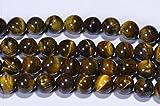 World Wide Gems Beads Gemstone Tiger Eye 8mm Beads Natural Gemstone Bead Craft Supplies Jewelry Making 16 Inch Long Inch Strand Code-HIGH-43590