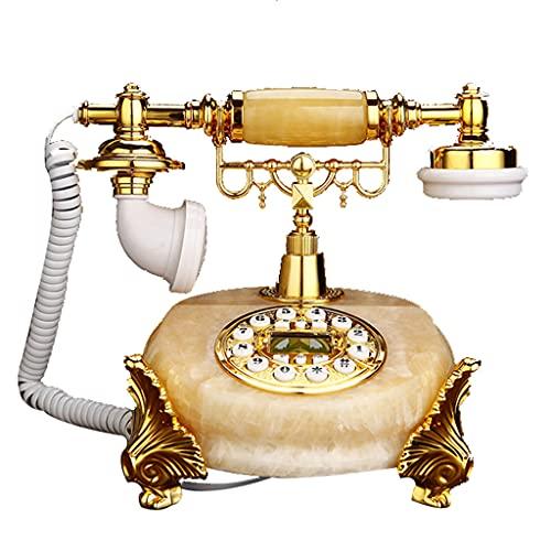 Teléfono de mármol Real Natural, línea Fija para el hogar, Moda con Cable, teléfono de Estilo Europeo Creativo, telecomunicaciones, línea Fija Antigua