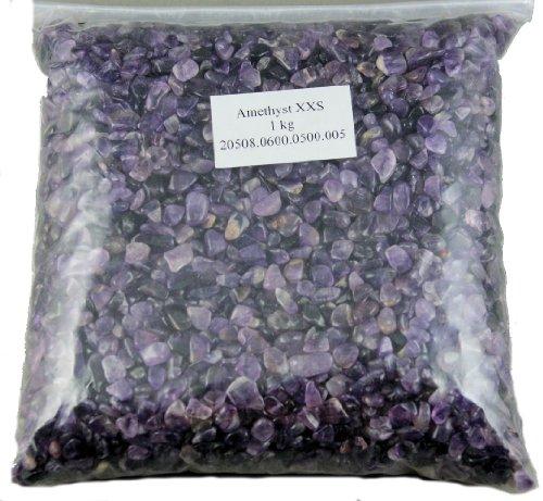 Edelsteine, polierte Trommelsteine, Amethyst XXS, 1 kg
