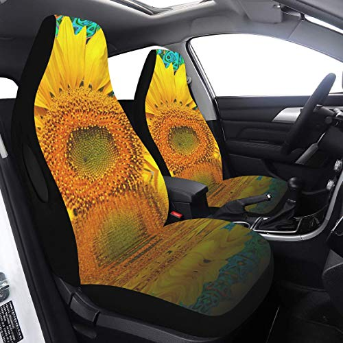 Buy Covers Cars Sunflower Summer Blossom Bloom Flora Late Summer Rear Seat Covers 2 Pcs Universal Fi...