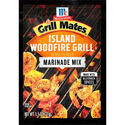 McCormick Grill Mates Island Woodfire Grill Marinade, 1.1 oz (Pack of 12)